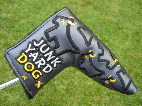 scotty cameron custom shop dancing junk yard dogs grey blade putter golf headcover