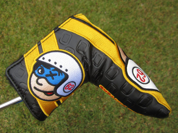 scotty cameron custom shop limited release johnny racer speed shop blade putter golf headcover black