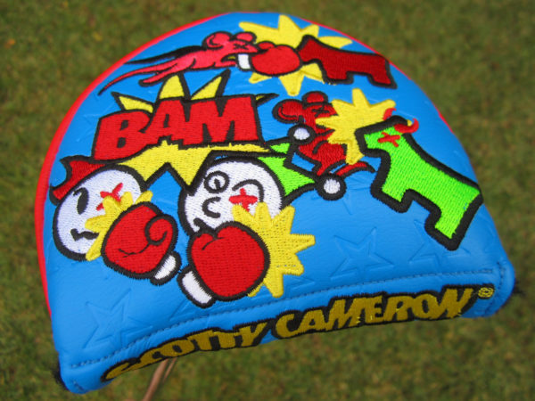 scotty cameron custom shop limited release turf wars mid round mallet putter golf headcover