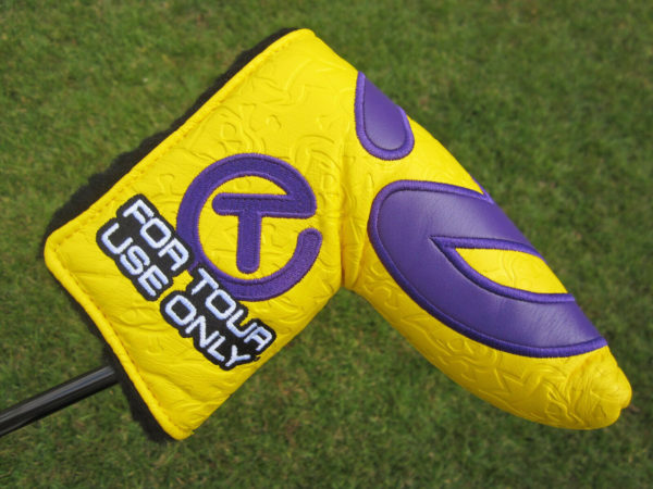 scotty cameron tour only purple and yellow industrial circle t tour jester headcover