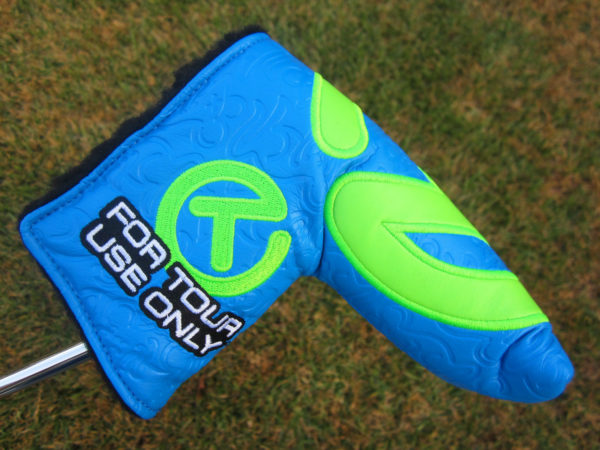 scotty cameron tour only blue and lime green industrial circle t tour rat headcover