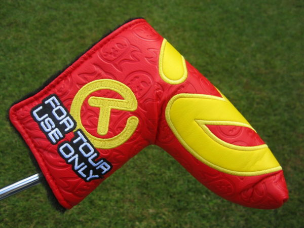 scotty cameron tour only red and yellow industrial circle t hot head harry headcover
