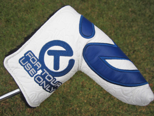 scotty cameron tour only white and navy blue industrial circle t tour rat headcover