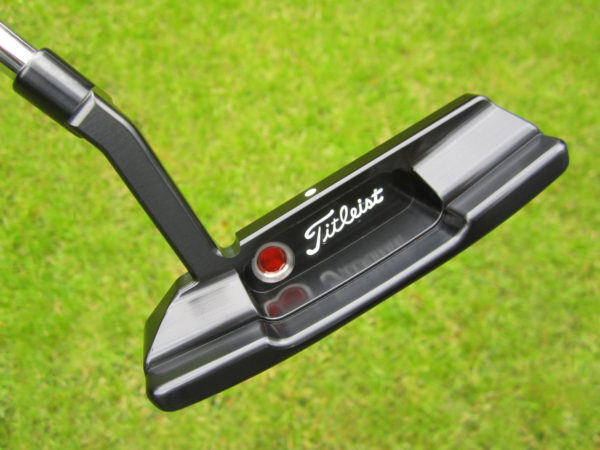 scotty cameron tour only carbon brushed black timeless t2 newport 2 circle t 350g with tiger woods stamps putter golf club