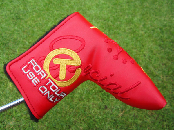 scotty cameron tour only red special select tourtype circle t blade headcover putter golf club