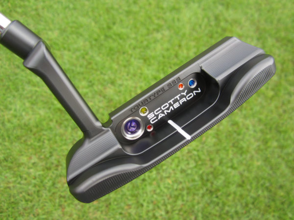 scotty cameron tour only 2021 sss black masterful tourtype special select circle t 360g with multi color paint and usa circle t headcover putter golf club