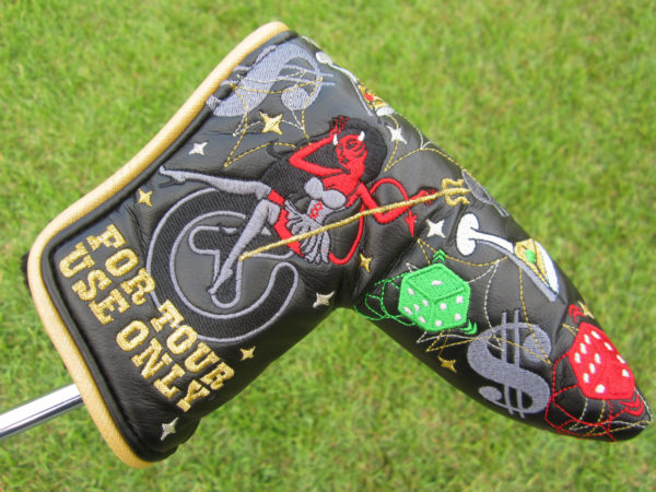scotty cameron tour only 2015 las vegas circle t red devil sin city putter headcover
