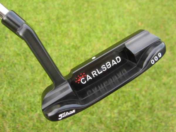 scotty cameron tour only carbon steel brushed black 009 circle t 350g with sight dot and carlsbad 92009 stampings putter golf club